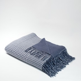 Foxford Houndstooth Check French Navy